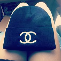 Chanel beanie! Perfect accessory for winter, I NEED!