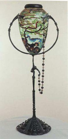 Vaso in vetro con murrine disegnato da Zecchin