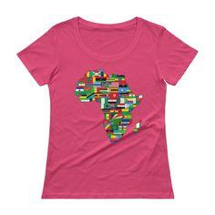 African Flags Ladies' Scoopneck T-Shirt  #blackownedbusinesses #entrepreneur #blackpower #blackowned #blacklove #blackhistory #supporttheblackdollar #blackownedbusiness #groupeconomics #blackgirlmagic #supportblackbusiness #chocolateancestor #buyblack #blackliberation #shopblack