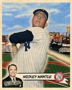 Baseball Star, Baseball Cards, The Mick, Mickey Mantle, Ny Yankees, Custom Cards, Game, Stars, Pictures