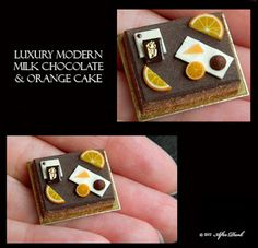 •• Después Miniaturas oscuros: julio 2012. LUXURY MODERN MILK CHOCOLATE & ORANGE CAKE