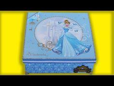 Caixa Decorada Princesa Cinderela Disney - YouTube