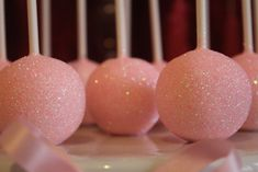 Sparkly cake pops at a Valentine's Day Party