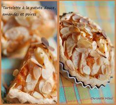 Tartelette à la patate douce, amandes et poires