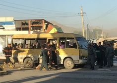 At least fourteen people were killed and another 12 injured in Afghan capital Kabul, when a suicide bomber targeted a mini bus carrying ...