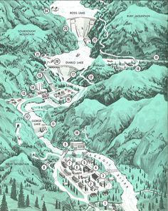 Skagit Project map, circa 1969
