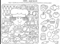 Find and search // Busca y encuantra Educational Activities, Learning Activities, Kids Learning, Activities For Kids, Hidden Picture Puzzles, Search And Find, Hidden Pictures, Hidden Objects, Activity Sheets