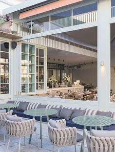 Vista Hotel in Mosman by SJB Interiros & Tess Regan Design. Buena Vista Hotel in Mosman, Australia by SJB Outdoor Seating, Outdoor Spaces, Outdoor Living, Outdoor Decor, Outdoor Cafe, Commercial Design, Commercial Interiors, Design Hotel, Restaurant Design