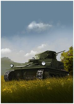VIckers MK I by dugazm on deviantART