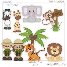 SCRAPBOOKING DIGITAL CLIPART qué Zoo exclusivo