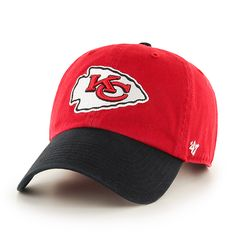 93ed9e57db18c Kansas City Chiefs Clean Up Two-Tone Red 47 Brand Adjustable Hat. Two  TonesSnapbackGearsDetroit GameCleaningNikeKansas ...