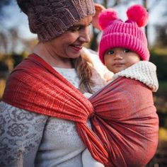 Sunset glow in the Alps captured in a Prima wrap. Baby Wraps, Baby Wearing, Knitted Hats, Winter Hats, Knitting, How To Wear, Shopping, Fashion, Moda