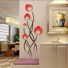 New Arrival Three-dimensional crystal flower vine tree Wall stickers Decals Dormitory TV sofa background Art wall hangings Hanging Wall Art, Diy Wall Art, 3d Wall, Wall Hangings, Wall Art Designs, Wall Design, Decoration, Art Decor, Home Decor