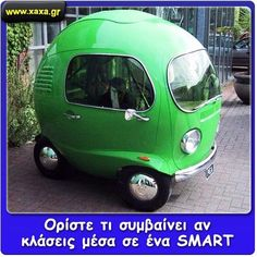 I present to you, the Volkswagen Nano in other words some idiot let one rip in a smart car. What the Hell is that! It looks like a front of VW bus nose put on an egg! Smart Auto, Smart Car, Auto Volkswagen, Vw T1, Automobile, Microcar, Camping Car, Camping Photo, Cute Cars
