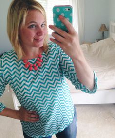I love chevron and the color of this top Stitch Fix #5, Thank you! I loved this top & necklace!! https://www.stitchfix.com/referral/3082451 #stitchfix