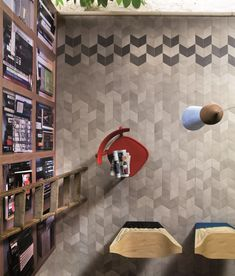 Pavimento/rivestimento in gres porcellanato per interni TEX BLACK by MUTINA design Raw Edges