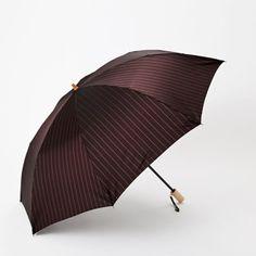 Folding Umbrella MEN Pinstripe TU Maehara Royal Warrant Holder OF THE Japanese   eBay