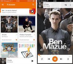 Google Music #MaterialDesign #Mobile #App