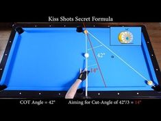 This is an exercise to learn how to make Kiss Shots. This is a technique that pool players need to know and use specially for safety shots, break clusters an. Billiards Bar, Billiard Room, Bar Games, Pool Games, Play Pool, Kid Pool, Bingo, Kiss Shot, Billiard Accessories