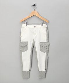 Diesel - White & Grey Trousers - Toddler & Girls