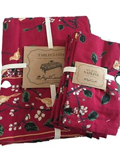 April Cornell Red and Green Christmas Songbirds Cloth Tab... https://www.amazon.com/dp/B01N576VVF/ref=cm_sw_r_pi_dp_x_0IaAybP8AANSV