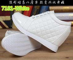 TOP QUALITY STYLISH Black White Free Shipping Hidden Wedge Heels Fashion Women's Elevator Shoes Casual Shoes For Women wedge heel Rhinestone 2016