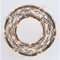 Holiday Living Pre-Lit Wreath with Constant White LED Lights
