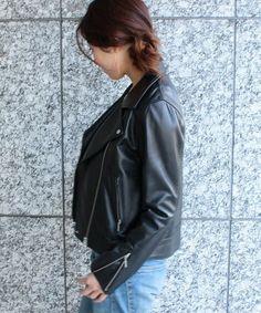 【Oggi3月号掲載】【JJ3月号掲載】ラムレザーライダースジャケット(ライダースジャケット)|ROPE' mademoiselle(ロペマドモアゼル)のファッション通販 - ZOZOTOWN