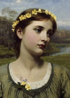 """ Spring Maiden by Frank Dicksee """