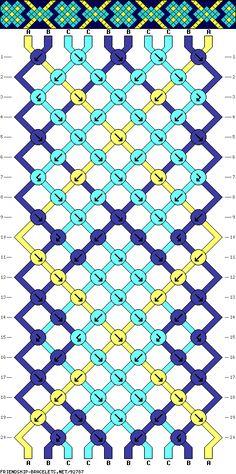 Muster # 92787, Streicher: 10 Zeilen: 20 Farben: 3