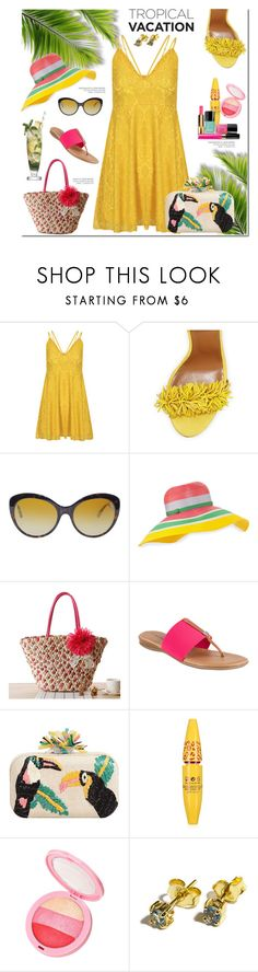 """""""Welcome To Paradise: Tropical Vacation"""" by belladonnasjoy ❤ liked on Polyvore featuring Aquazzura, Dolce&Gabbana, Missoni, André Assous, MANGO, Margarita, contest, contestentry and TropicalVacation"""