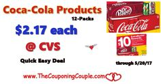 Coca-Cola Products $2.17 per 12-Pack @ CVS ~ No Coupon Needed. Quick Easy Deal for cheap soda and to get started with EBs for future deals.  Click the link below to get all of the details ► http://www.thecouponingcouple.com/coca-cola-products-2-17-per-12-pack-cvs-no-coupon-needed/ #Coupons #Couponing #CouponCommunity  Visit us at http://www.thecouponingcouple.com for more great posts!