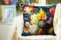 Elegant high quality velvet fabric cushion by WhooplaArt on Etsy, $19.99