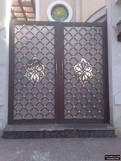 House Main Gates Design, Door Design, House Design, Steel Gate Design, Iron Gate Design, Home Decor Furniture, Furniture Projects, Wrought Iron Gates, Art Deco Pattern