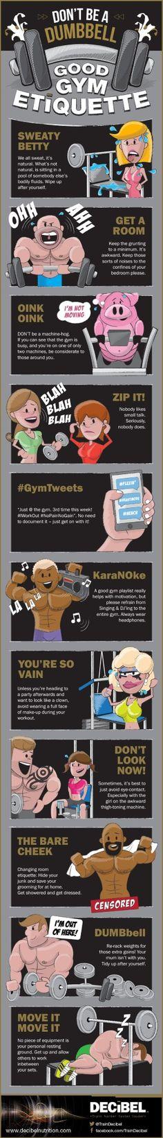 Don't Be A Dumbbell - Good Gym Etiquette