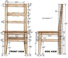 Woodworking plan for Chair. Complete woodworking plans with detail descriptions can be found on my website: www.tedswoodworkp...