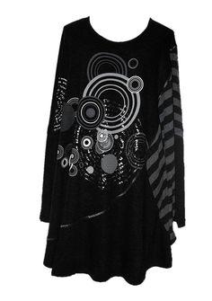 AKH Fashion Lagenlook Shirt Tunika XL-XXL mit Strass bei http://lafeo.de/shopping/modeolymp/