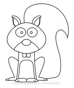 squirrel drawing - Поиск в Google