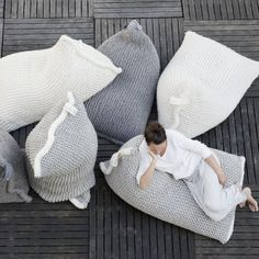 zilalila.com NEST collection - knitted bean bag 600euro (~A$850) 90x135x90cm 12kg