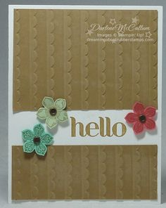 http://dreamingaboutrubberstamps.com/petite-petals-card-x-two - A clean and simple card using the Stampin' Up! Petite Petals Bundle