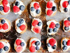 Fourth of July DIY Fruity Appetizer: Summer Berry Crostini With Lemon Ricotta and Honey
