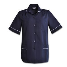 Azulwear leading Suppliers of Medical Uniforms I Udine Nursing Top I The UDINE top has pleated shoulders and elegant piping along the collar, sleeves and pockets to create a comfortable yet smart garment ideal for professional use. Nursing Uniforms, Medical Uniforms, Safety Workwear, Somerset West, Nursing Tops, Navy And White, Work Wear, Chef Jackets, Men Casual