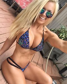 SEXY ATHLETIC BUSTY DREAM BIKINI BODY of blonde #Fitness model Jen Heward : if you LOVE Health, Exercise & #Fitspiration - you'll LOVE the #Motivational designs at CageCult Fashion: http://cagecult.com/mma