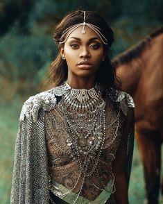 Warrior Queen, Warrior Girl, Warrior Princess, Fae Aesthetic, Black Girl Aesthetic, Orisha, Princess Aesthetic, Fantasy Photography, Costume