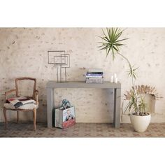 concrete Console tables in Themed concrete style furniture in the form of one cool tables, shop now at our cool store for amazing ideas. Concrete Furniture, Furniture Care, Shabby Chic Ikea, Console Table Next, Clean Concrete, Ikea Malm, Cool Tables, Cool Store, Amazing Ideas