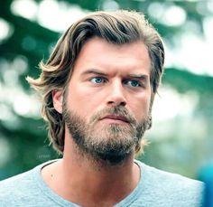 Most Beautiful Man, Gorgeous Men, Growing Long Hair Men, Blue Eyed Men, Latin Men, Blond, Hair And Beard Styles, Hairy Men, Turkish Actors