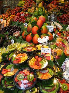 Fresh salads - The Temptations Of La Boqueria Food Market From Barcelona