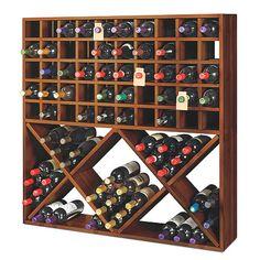 Wine enthusiast Jumbo Bin Grid 100 Bottle Wine Rack - Walnut