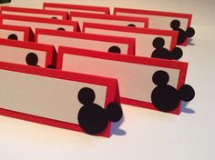 Mickey place cards