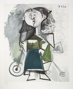 """1954 full Color Art Plate /"""" The Saltimbanques /"""" by Picasso offset Lithograph"""